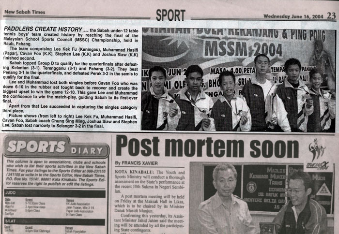 2.1.4.2 sport 2004-06-16 the new sabah times