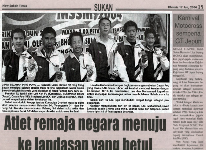 2.1.4.2 sport 2004-06-17 the new sabah times(malay)